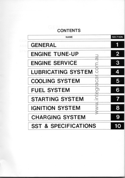toyota 2h engine repair manual contents