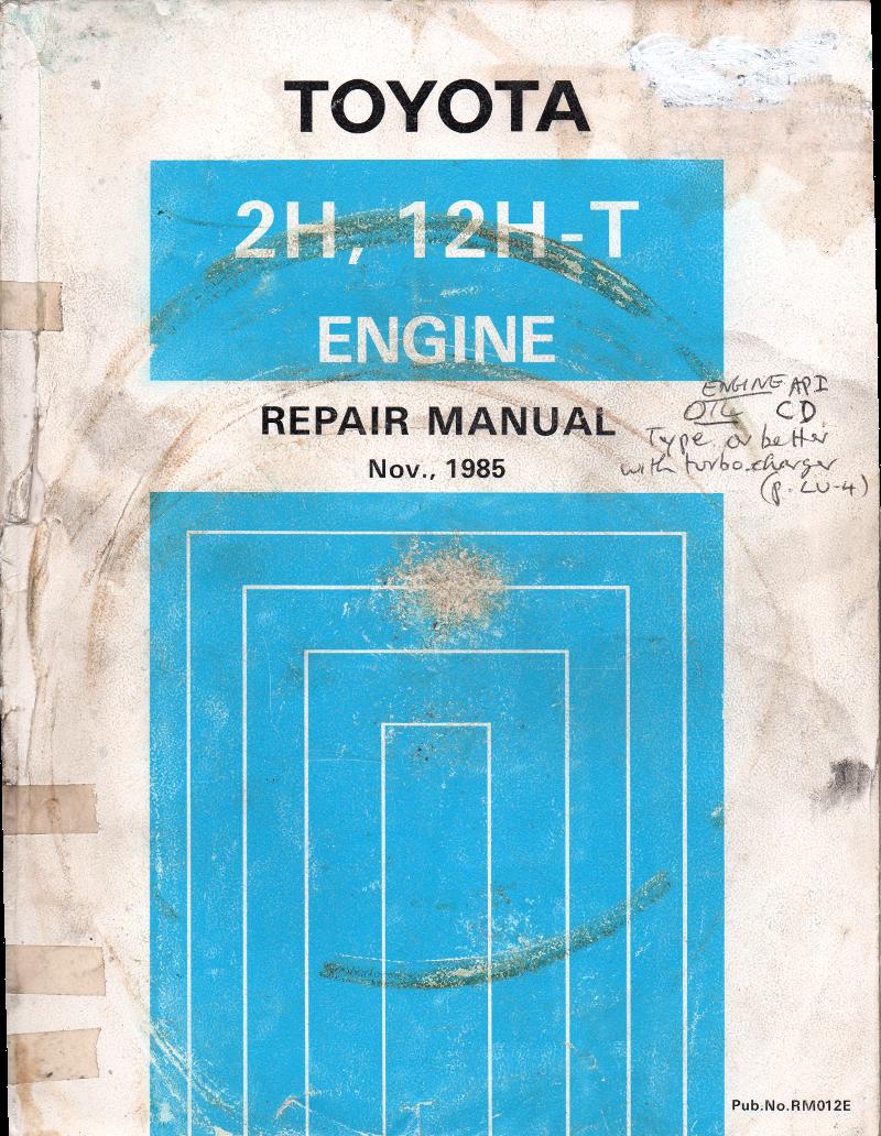toyota 2h engine repair manual