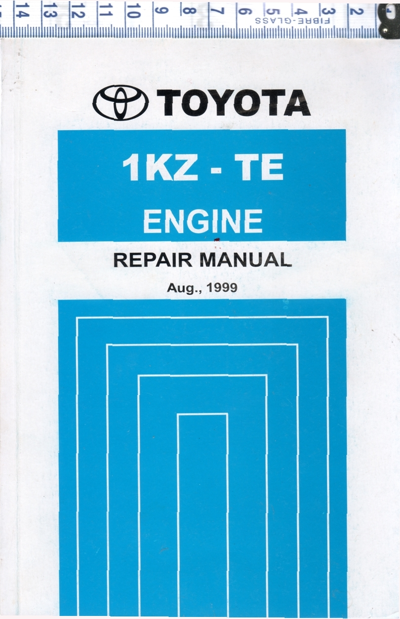 Toyota 1KZ-TE Diesel engine repair workshop manual NEW