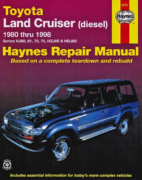 Toyota Land Cruiser Diesel 1980 1998 Haynes Service Repair Workshop Manual